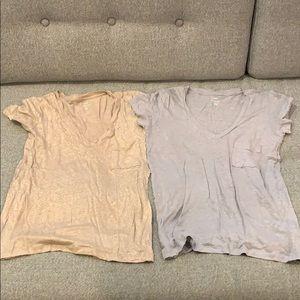 J Crew 100% Linen Tee Shirts